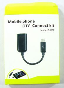 MOBILE PHONE OTG CONNECT KIT MICRO USB HOST (S-K07) for Samsung Galaxy S2/ S3/ Note/ Note 2, Nokia N810, N900, Motorola Xoom
