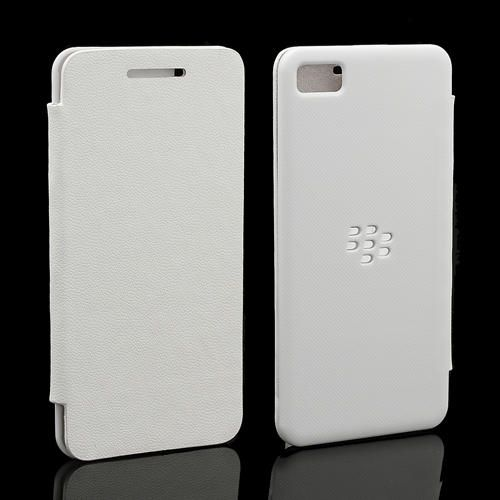 low priced 65c07 de2f8 Blackberry Z10 Leather Battery Flip Cover case pouch carry Back ...