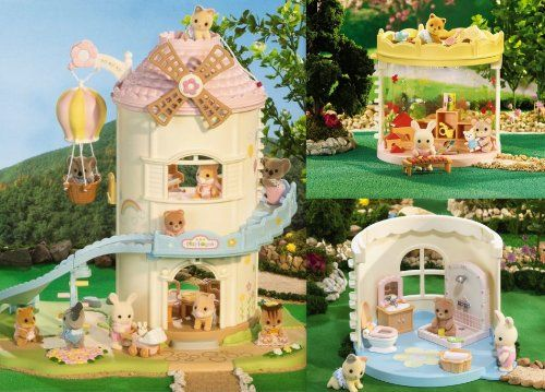 Calico Critters Windmill Baby Playhouse Playroom Bathroom Sets - Calico critters bathroom