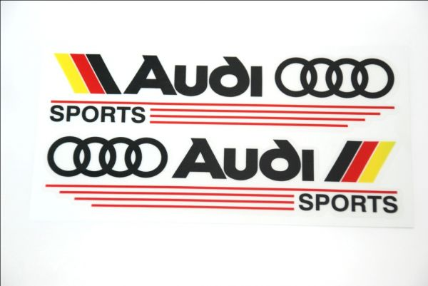 Audi Sport High Quality Car Mirror Stickers Decal Logo Emblem Black - Audi car emblem