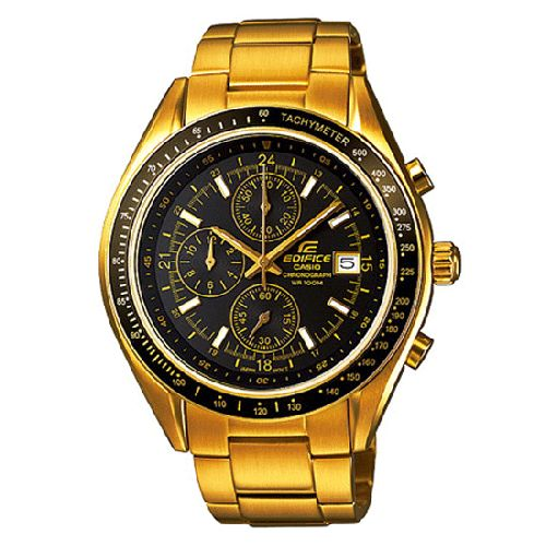 ce038461ef8 Casio Edifice Chrono Mens Gold Tone Dress Watch EFR-509G-1AV