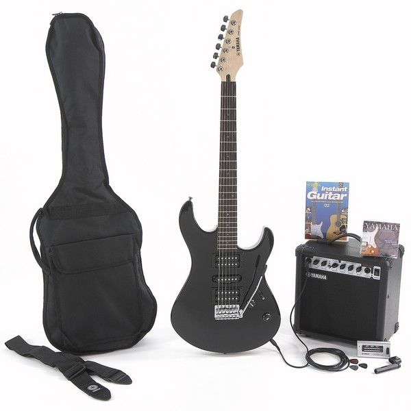 yamaha electric guitar package gigmaker black. Black Bedroom Furniture Sets. Home Design Ideas