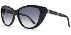 d3d979c98262 Marc by Marc Jacobs MMJ 366 S 29A 56 Cateye Sunglasses in Shiny Black