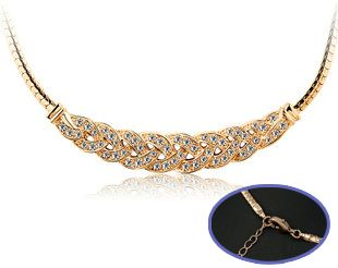 Italina 18K Rose Gold Plated Unique Braided Design Necklace KMP076