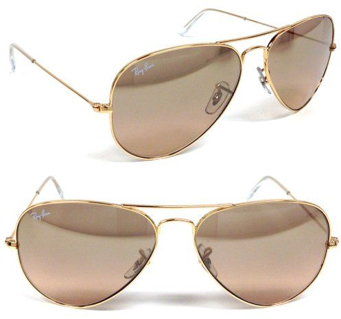 191c68cb499ad New Ray Ban Rb3025 001 3e Aviator Gold Frame Crystal Brown-pink ...