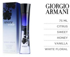 Edp Giorgio Armani 75ml Code For Women VjSMUpGLzq