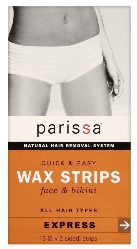 Quick and easy wax strips face and bikini can