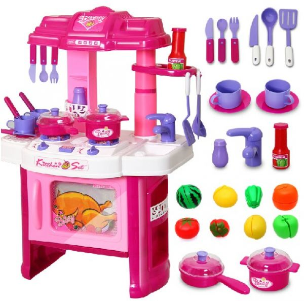 34a0a89e8325 Big Kitchen Cook Set For Kids Pretend Play Toy