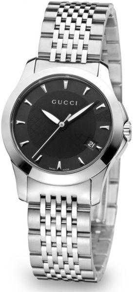 b9e1e63442d Women s Gucci G Timeless Swiss Black Dial Stainless Steel Band ...