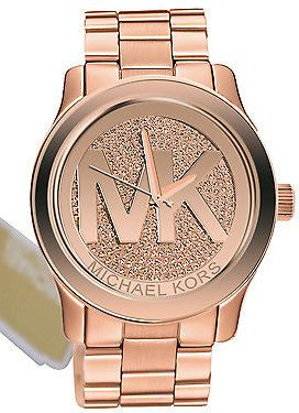 c80cd3353 Michael Kors MK5661 Runway Rose Gold Dial Steel Bracelet Women Watch ...