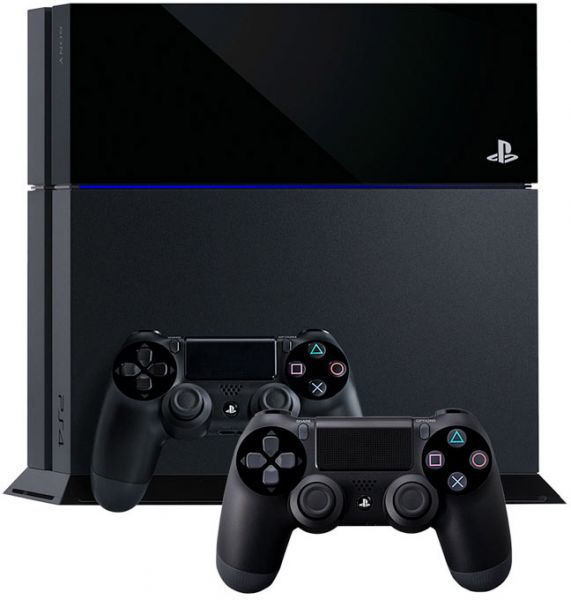 Sony PlayStation 4 Launch Edition 500 GB Black with 2 Dual Shock Wireless Controllers