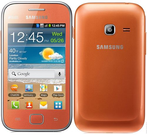 Samsung Galaxy Ace Duos S6802 Dual Sim Mobile Phone - Orange