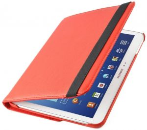 360 Degree Rotating PU Leather Case Cover For Samsung Galaxy Note 10.1 N8000 (red)