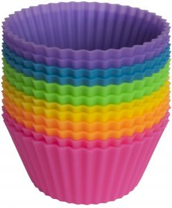 Pantry Elements Silicone Baking Cups - Set of 12 Reusable Cupcake Line...