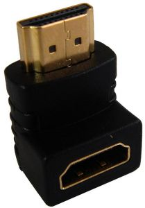 90 Degree Right Angle Angled HDMI Male to Female Adapter