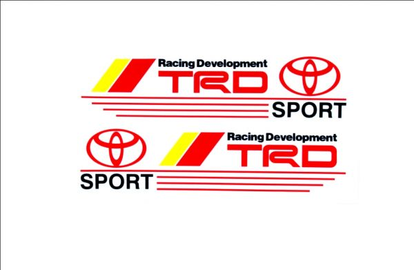 Trd sport high quality car stickers decal logo emblem red yellow for toyota