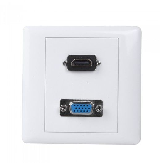 hdmi vga wall plate outlet control panel cover white v627 souq & HDMI Vgaoutlet 160 00 aed