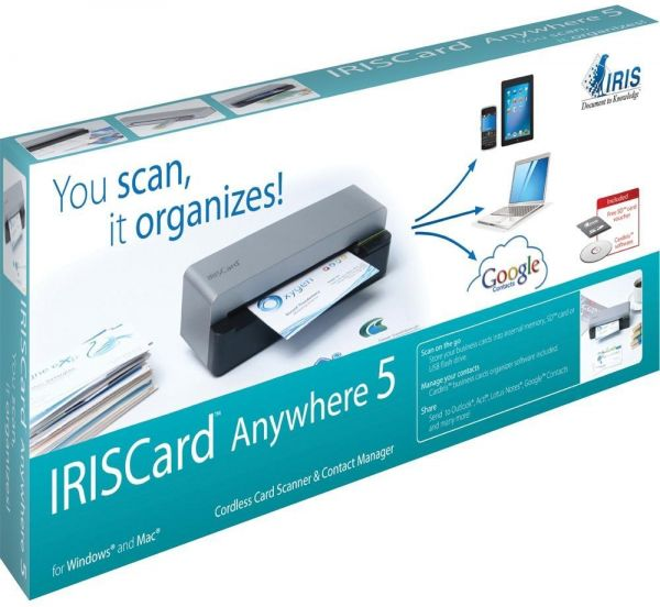 Iriscard anywhere 5 mobile business card scanner printers scanners iriscard anywhere 5 mobile business card scanner reheart Choice Image
