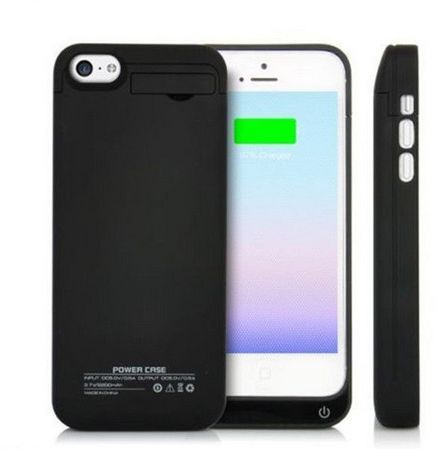 new arrival a7d88 78224 iPhone 5 5S 5C 2200mAh backup External Battery Charger Case Pack Power Bank  [Black]