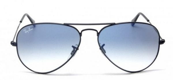 Buy Ray Ban Aviator RB3025 002/3F, Black Frame, Light Blue Gradient ...