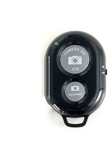 Wireless Bluetooth Camera Remote Shutter for iOS iPhone iPad Android  Samsung HTC Sony [Black]