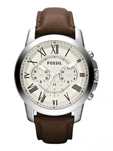 d09c216cf08c Fossil Grant Watch for Men - Analog Leather Band - FS4735