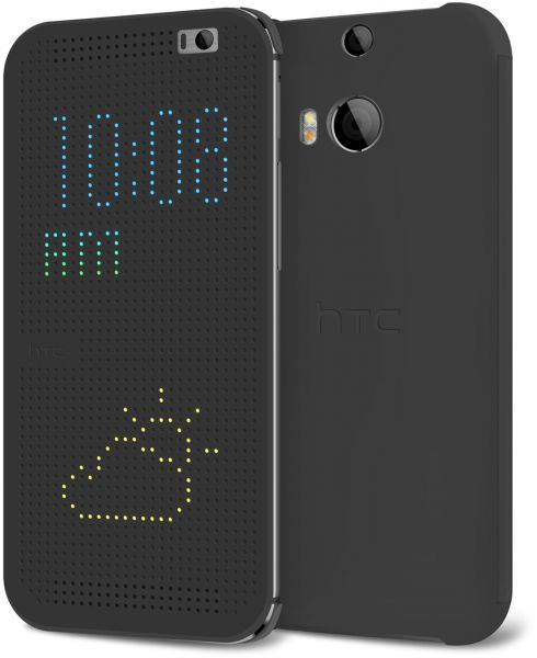 HTC Dot View Case for HTC One M8 Grey