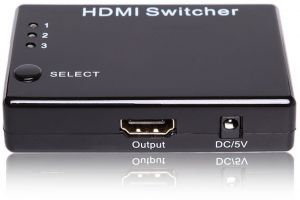 3 Port HDMI Switch Switcher Selector With Remote And Cable