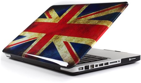 "UK British Flag Glossy Crystal Hard Case Cover with Screen Protector for  Macbook Pro 13""inch"