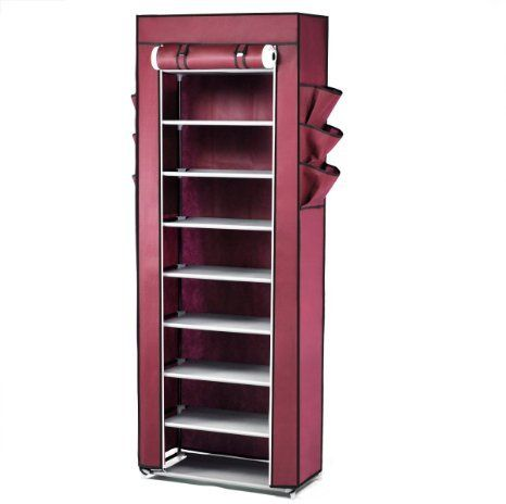 Shoe Cabinet 10 Tier Stand Rack Organizer With Cover Part 22