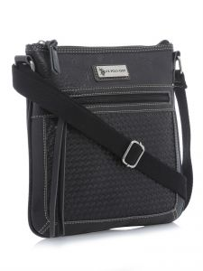 U.S. Polo Assn. Women s Saratoga Woven Vinyl Crossbody Bag   UP30637-000-BLK   cf0d5344c2c16
