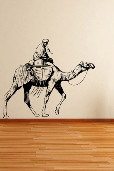 Walliv Decals Desert Camel Wall Sticker Wall Decal Birds Animals