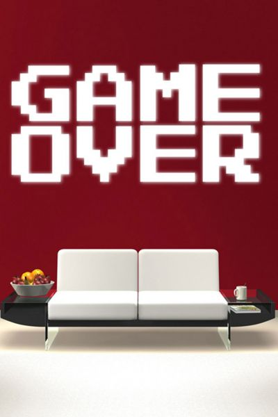 Walliv Decals Game Over Wall Quote Quotes Sdt041