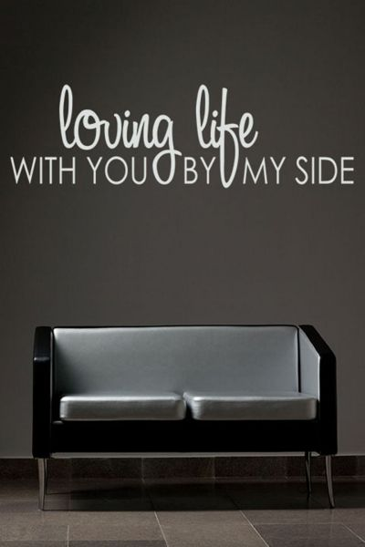 Walliv Decals Loving Life With You By My Side Wall Sticker Decal