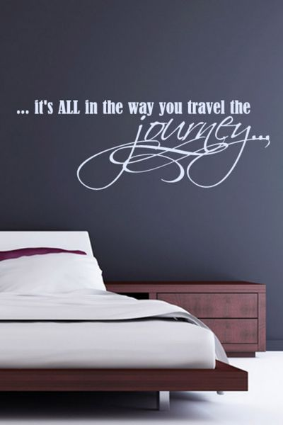 walliv decals it's all in the way you travel the journey quote wall