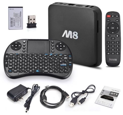 M8 Amlogic S802 Quad Core Android 4 4 Smart TV Box 2G/8G, GPU 4K HDMI,  XBMC, AR/EN Wireless Keyboard