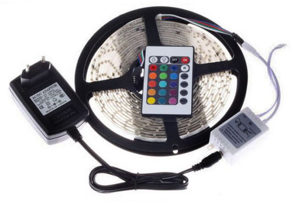 Rgb waterproof led strip with flexible light 3528 5m 300 led smd rgb waterproof led strip with flexible light 3528 5m 300 led smd with rgb remote control aloadofball Gallery