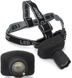 1000 Lum CREE LED Head lamp light zoom tilt & head band torch