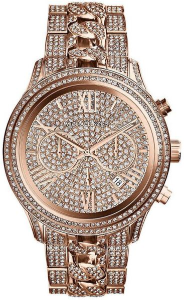 2e0c4481a1a9 Michael Kors Lindley Watch for Women - Analog Stainless Steel Band ...
