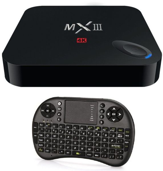 Arabic Supported MXIII 4K Android 4.4.2 Amlogic S802 Qu.