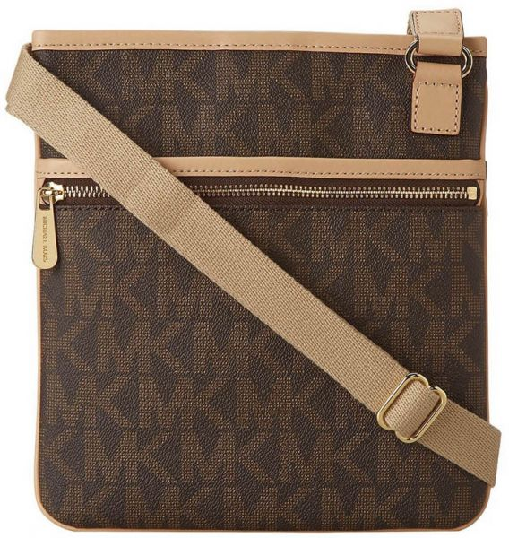 1d954f112973 Michael Kors 32F1GJSC3B-200 Jet Set Monogram Logo Large Crossbody ...