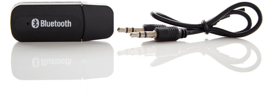 USB Bluetooth Audio Receiver 3.5mm Music Adapter Dongle Speakers With Mic
