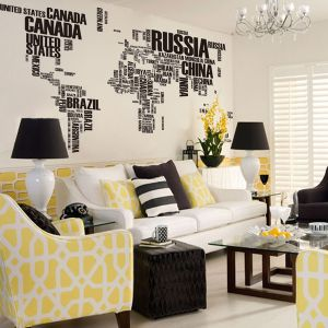 White Friday Sale On wallpops world map decal   Mii Home,The Decal ...