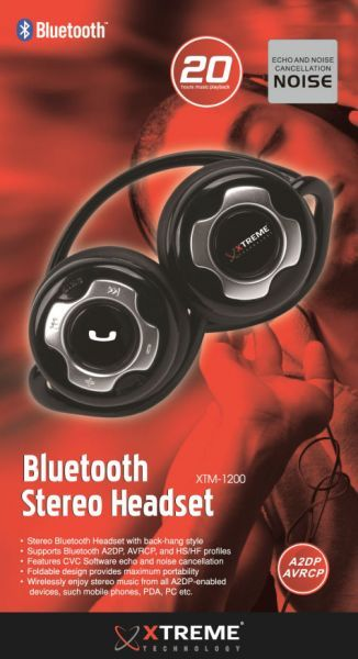 GENX Extreme Stereo Bluetooth Headset XTM-1200 with Noise Cancellation for Apple iPhone 6 and 6plus