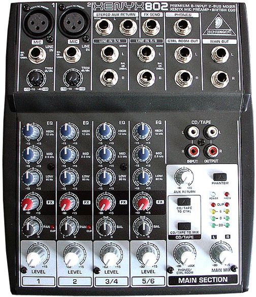 behringer xenyx 802 mixer 2 mono 2 bus input souq uae. Black Bedroom Furniture Sets. Home Design Ideas