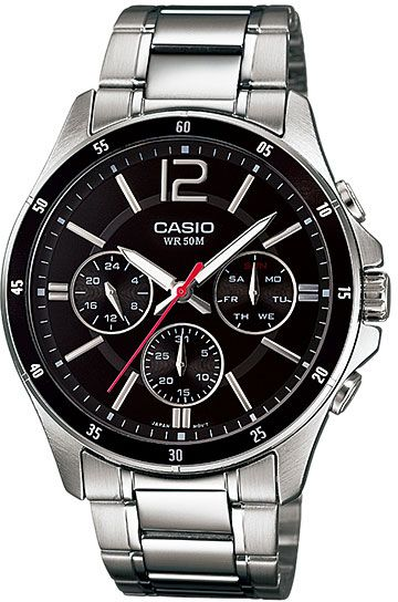8e98aa6fe CASIO ENTICER Watch MTP-1374D-1AV for Men (Analog, Casual Watch ...