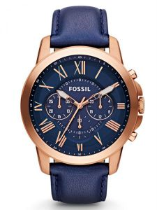 b0b99e606 Fossil Grant Watch for Men - Analog Leather Band - FS4835