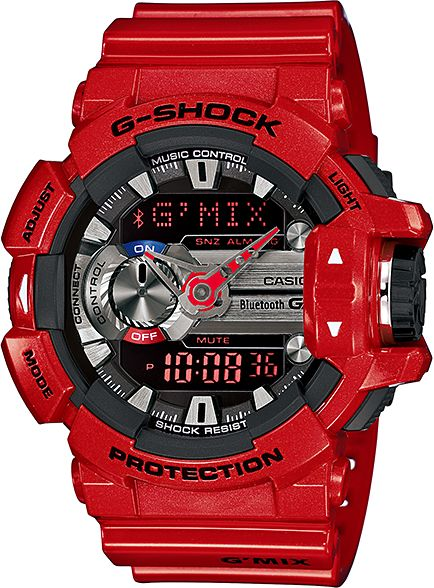 finest selection 2442b 4b9e6 Casio G-Shock Men s Red G Mix Music Bluetooth Watch - GBA400-4A ...