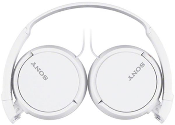 Sony MDR-ZX110AP Extra Bass Smartphone Headphones (White)