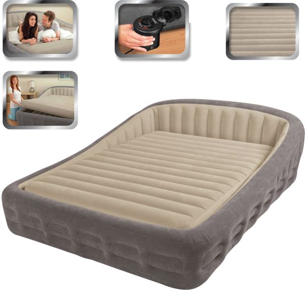 Intex Luxury Comfort Frame Queen Size Airbed With Electric Pump